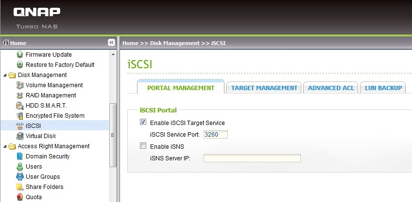 Enable iSCSI