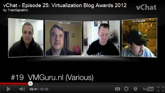 vChat - Episode 25: Virtualization Blog Awards 2012