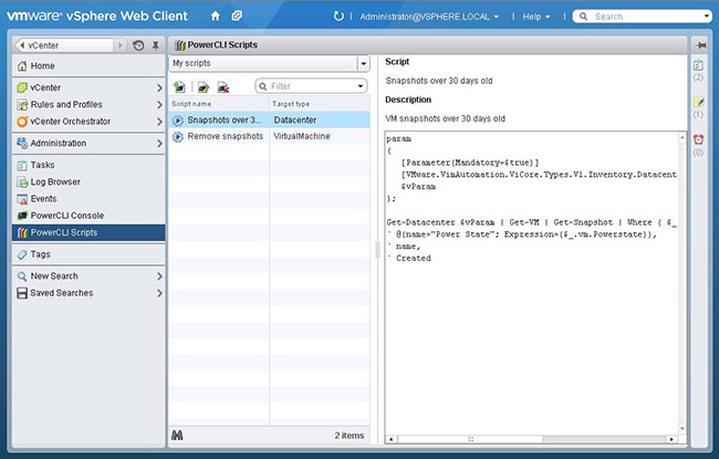 VMware Fling – PowerActions for vSphere Web Client