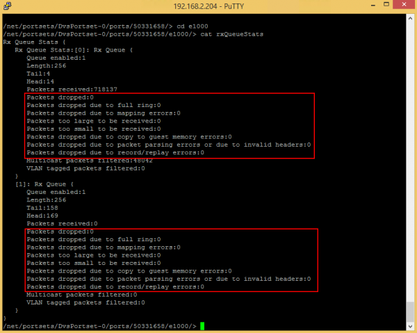vSphere 6 experiencing high packet loss
