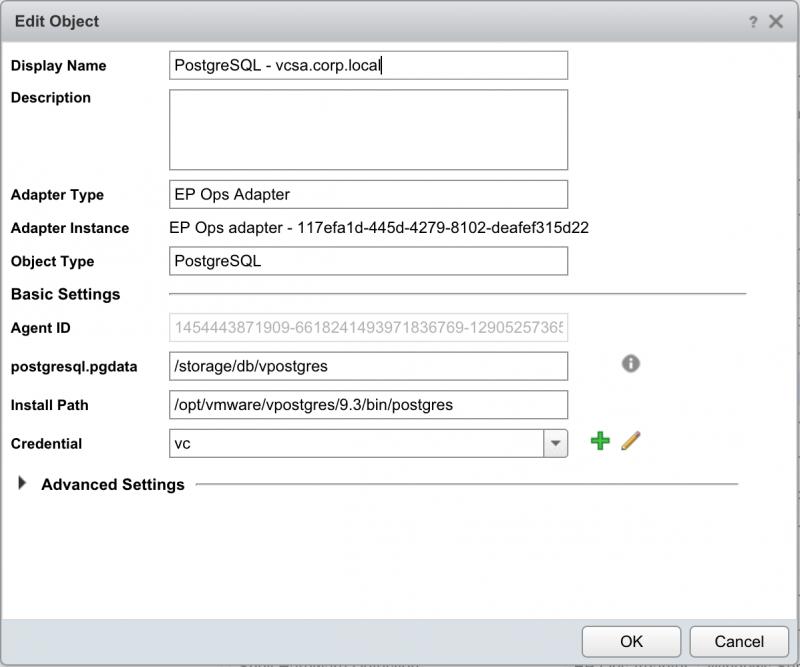 PostgreSQL credentials