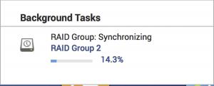 QNAP RAID group sync