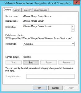 VMware Mirage service