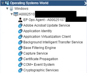 vRealize Windows OS services auto short list