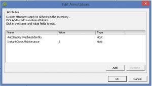 Annotations vSphere host InstantClone value 2