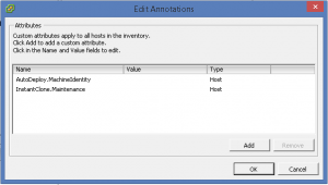 Annotations vSphere host Instantclone value clear