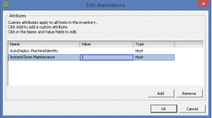 Annotations vSphere host InstantClone value 1
