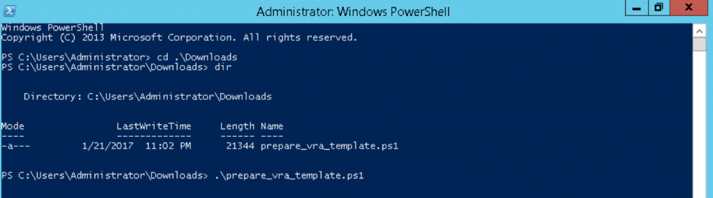 Prepare Windows for vRA software deployment
