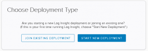 vRealize Log Insight - deployment type