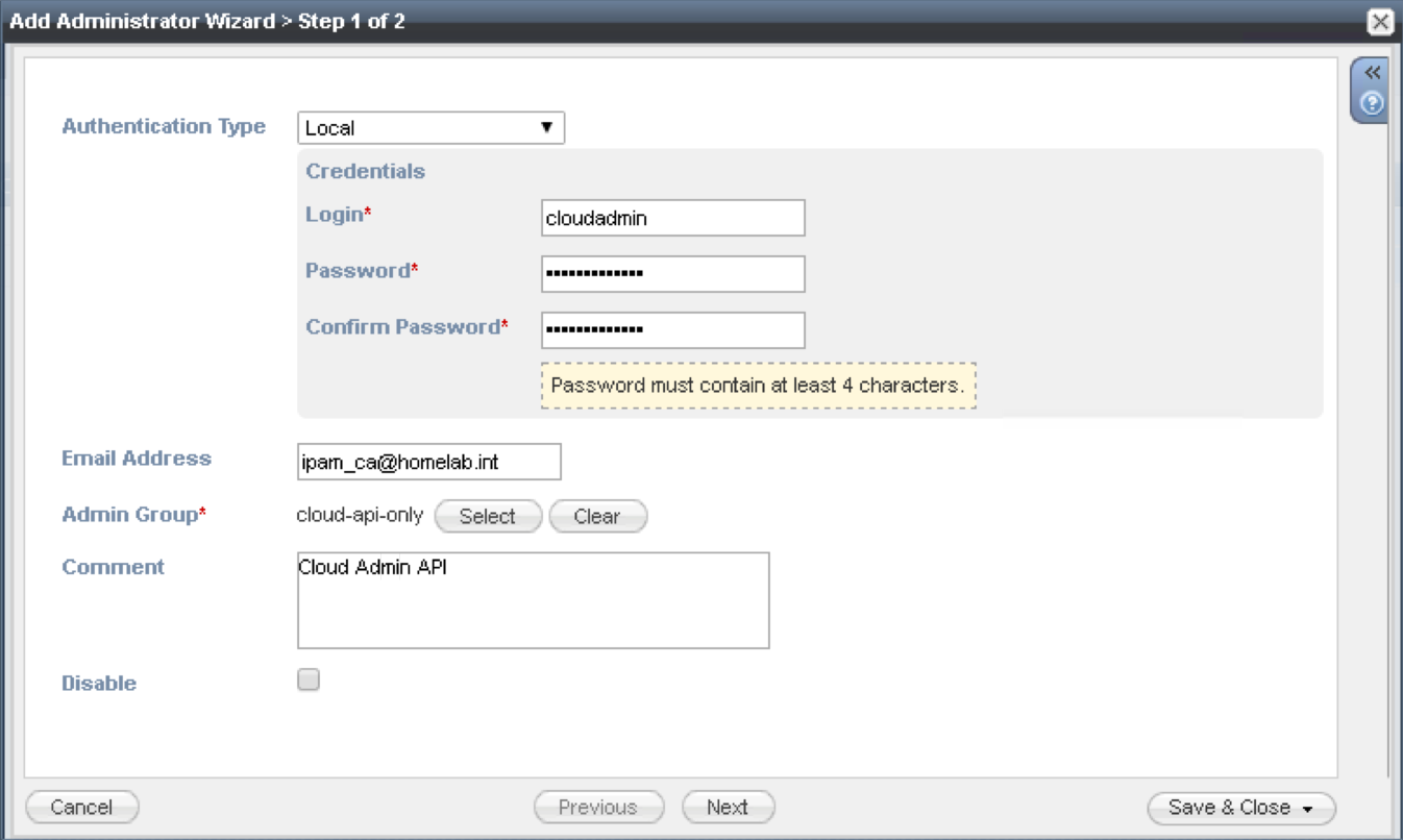 Infoblox & vRealize Automation, Infoblox NIOS setup