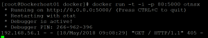 Docker OTNSX running